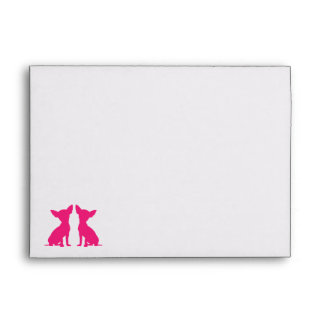 Pink Chihuahua dog cute envelopes, gift idea Envelope