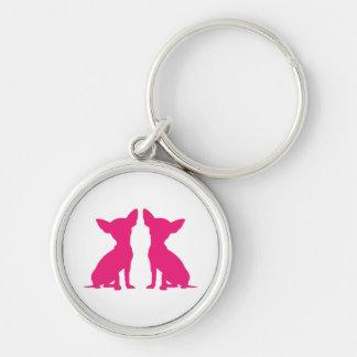 Pink Chihuahua dog cute keychain, gift idea Keychain