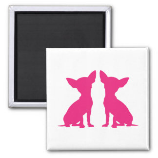 Pink Chihuahua dog cute silhouette magnet, gift Magnet