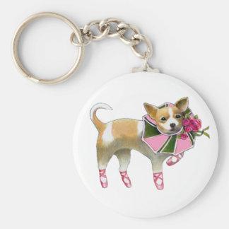 Pink Chihuahua Keychain