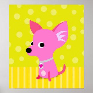 Pink Chihuahua poster