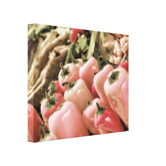 Pink Chili Peppers Food Photography Canvas Print