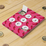 Pink chili peppers pattern countdown calendars