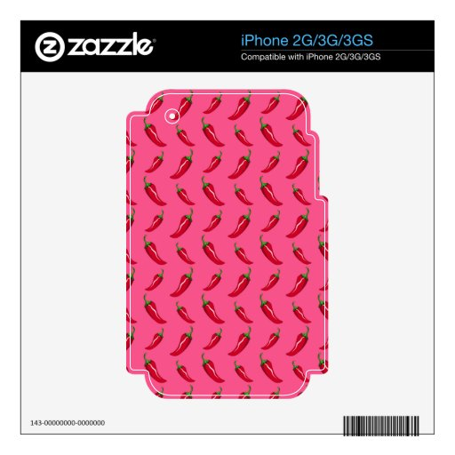Pink chili peppers pattern skin for the iPhone 2G