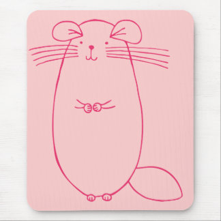 Pink Chinchilla Mouse Pad