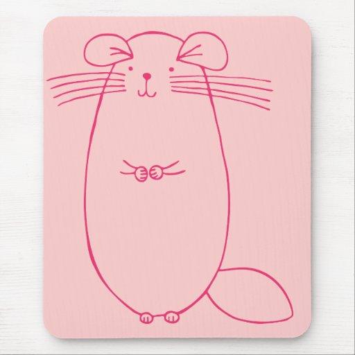 Pink Chinchilla Mouse Pad