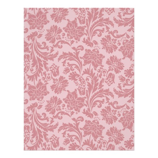 Pink Chintz Pattern Card Stock DIY Scrapbooking