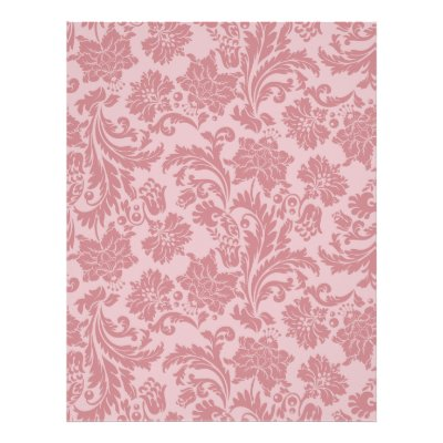 This elegant Pink Chintz pattern card stock may be used