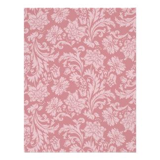 Pink Chintz Pattern Card Stock DIY Scrapbooking Flyer