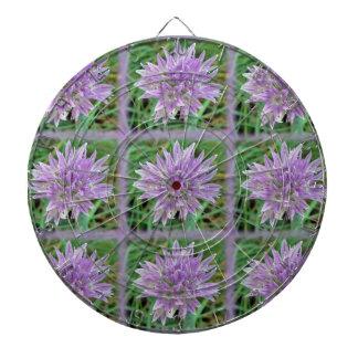Pink Chive Flowers Allium Schoenoprasum Dartboard