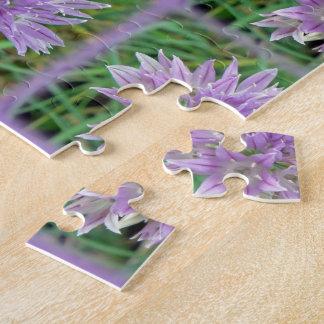 Pink Chive Flowers Allium Schoenoprasum Jigsaw Puzzle