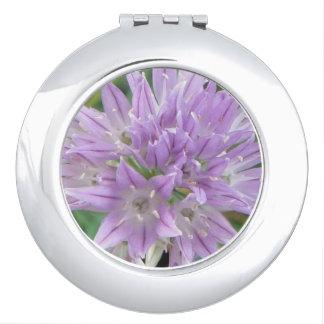 Pink Chive Flowers Allium Schoenoprasum Makeup Mirror