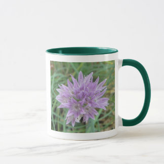 Pink Chive Flowers Allium Schoenoprasum Mug