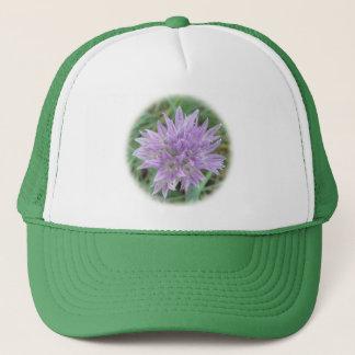 Pink Chive Flowers Allium Schoenoprasum Trucker Hat