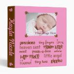 Pink Chocolate Girls Baby Book Vinyl Binder