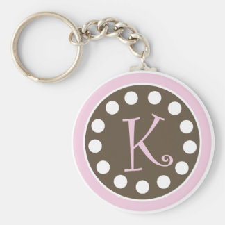 "Pink Chocolate Keychain ""K"""