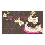 Pink + Chocolate Wedding Cake/Bakery/pâtisserie Business Card Templates