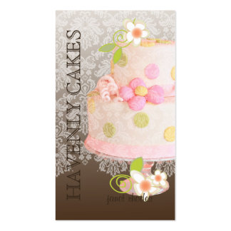 Pink + Chocolate Wedding Cake/Bakery/pâtisserie Business Card