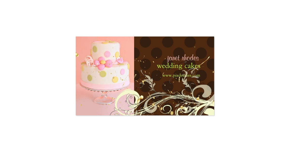 wedding cake business from home pink chocolate wedding cake business cards zazzle 22133