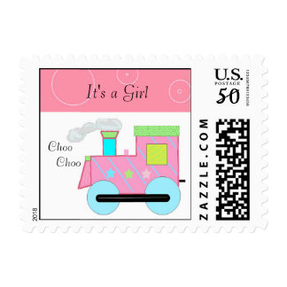 Pink Choo Choo Train Postage
