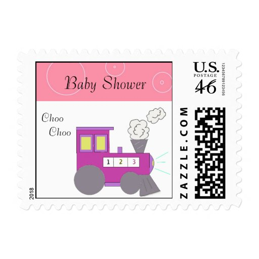 Pink Choo Choo Train Stamps
