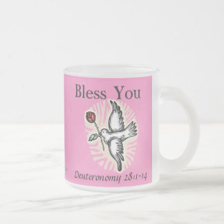 Pink Christian Frosted Glass Coffee Mug
