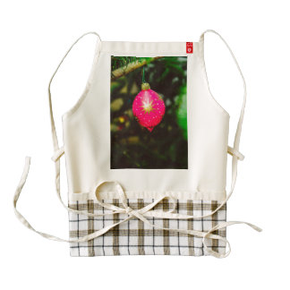 Pink Christmas bauble Zazzle HEART Apron