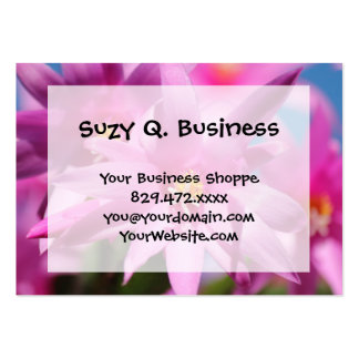 Pink Christmas Cactus Schlumbergera Flower Blossom Large Business Card