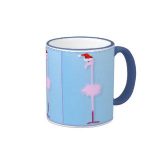 Pink Christmas Flamingo 1 Mugs