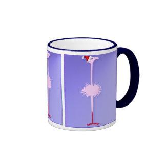 Pink Christmas Flamingo 2  Mugs