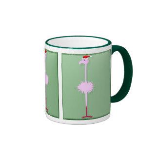 Pink Christmas Flamingo 3  Mugs