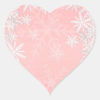Pink Christmas Heart Sticker