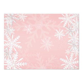 "Pink Christmas 6.5"" X 8.75"" Invitation Card"