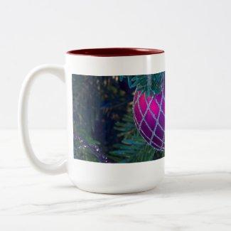 Pink Christmas Ornament Coffee Mug