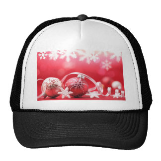 Pink Christmas Ornaments and Lace Hats