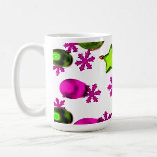 Pink Christmas Ornaments Classic White Coffee Mug