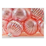 Pink Christmas Ornaments Holiday Greeting Cards