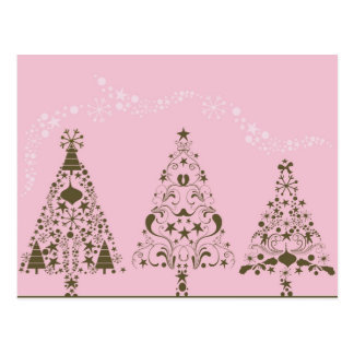 Pink Christmas Postcard