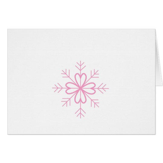 Pink Christmas Snowflake Greeting Card