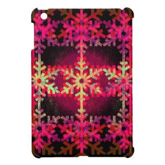 Pink christmas snowflake pattern iPad mini cover