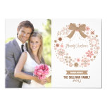 Pink Christmas Snowflakes Wreath | Holiday Card