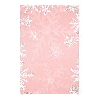 Pink Christmas Custom Stationery