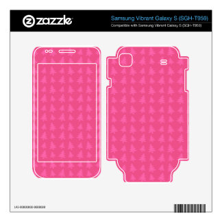 Pink christmas tree pattern skin for samsung vibrant
