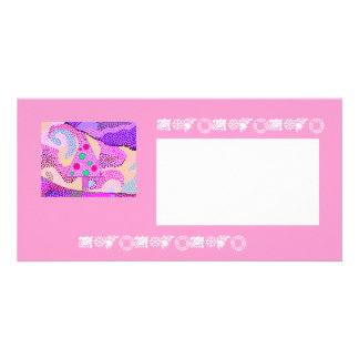 Pink Christmas Tree Photocard Card