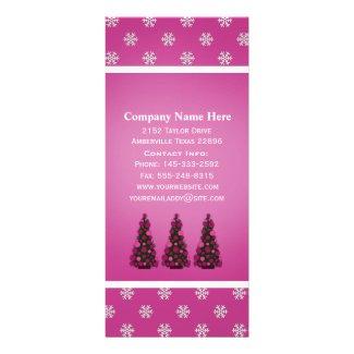 Pink Christmas Tree: Rack Cards
