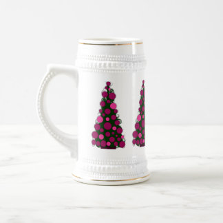 Pink Christmas Tree Stein