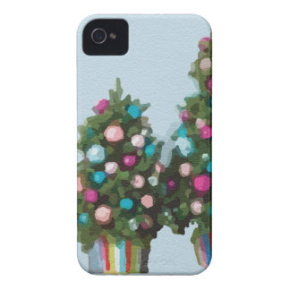 Pink Christmas Trees Super Cute Collection iPhone 4 Case