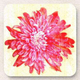 Pink chrysanthemum coaster