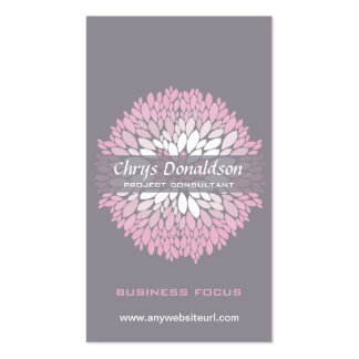 Pink Chrysanthemum Double-Sided Standard Business Cards (Pack Of 100)