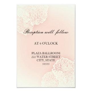 Pink Chrysanthemum Floral Reception Card